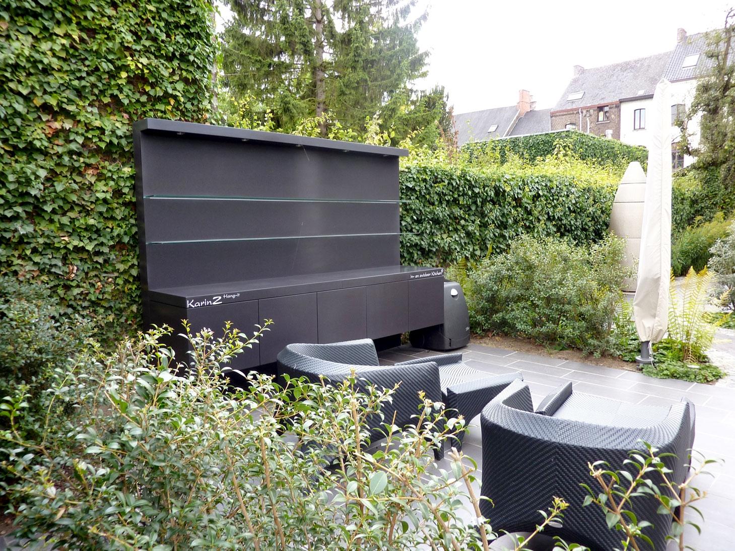 Strakke wandeltuin met een moderne toets realisaties project kristof vanderheyden tuindesign - Designer tuin ...